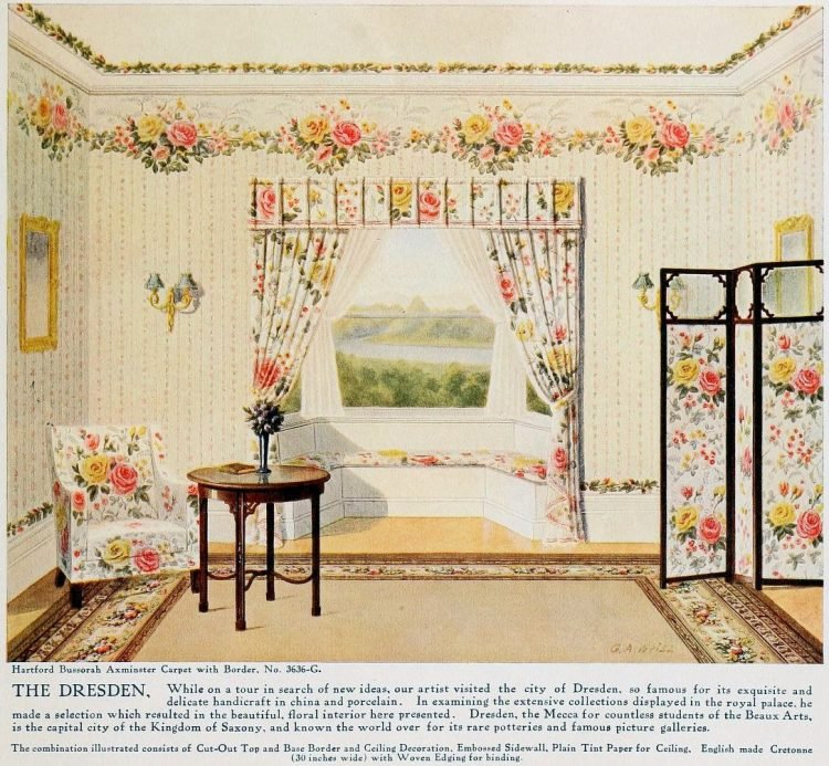 Pretty vintage room layout inspiration from 1915 (1)