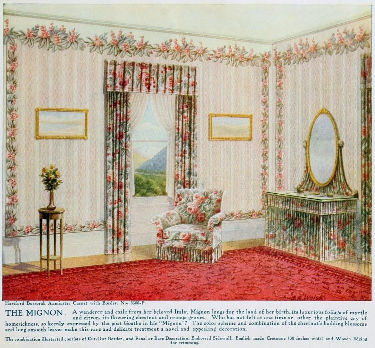 Pretty vintage room layout inspiration from 1915 (10)