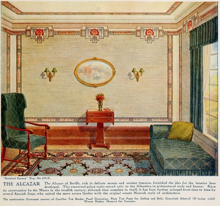 Pretty vintage room layout inspiration from 1915 (3)