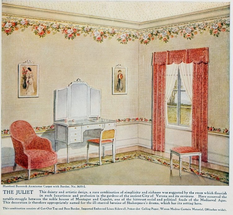 Pretty vintage room layout inspiration from 1915 (5)