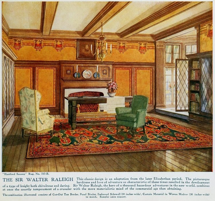 Pretty vintage room layout inspiration from 1915 (7)