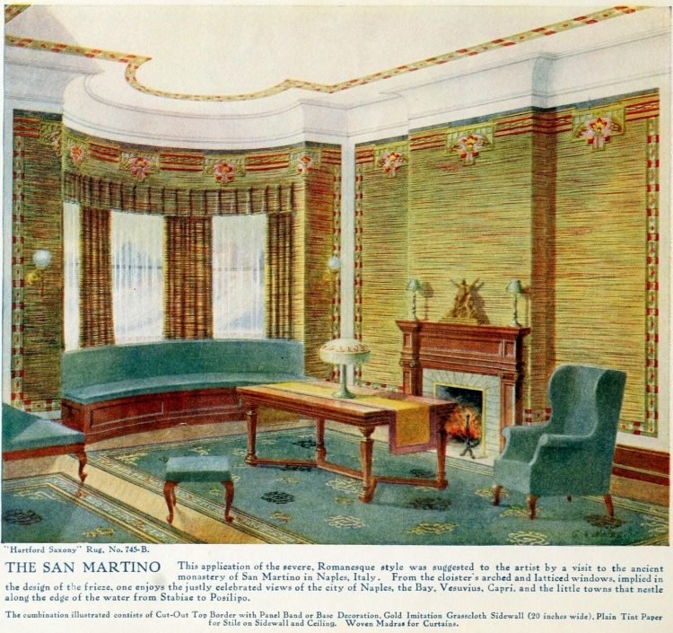 Pretty vintage room layout inspiration from 1915 (9)