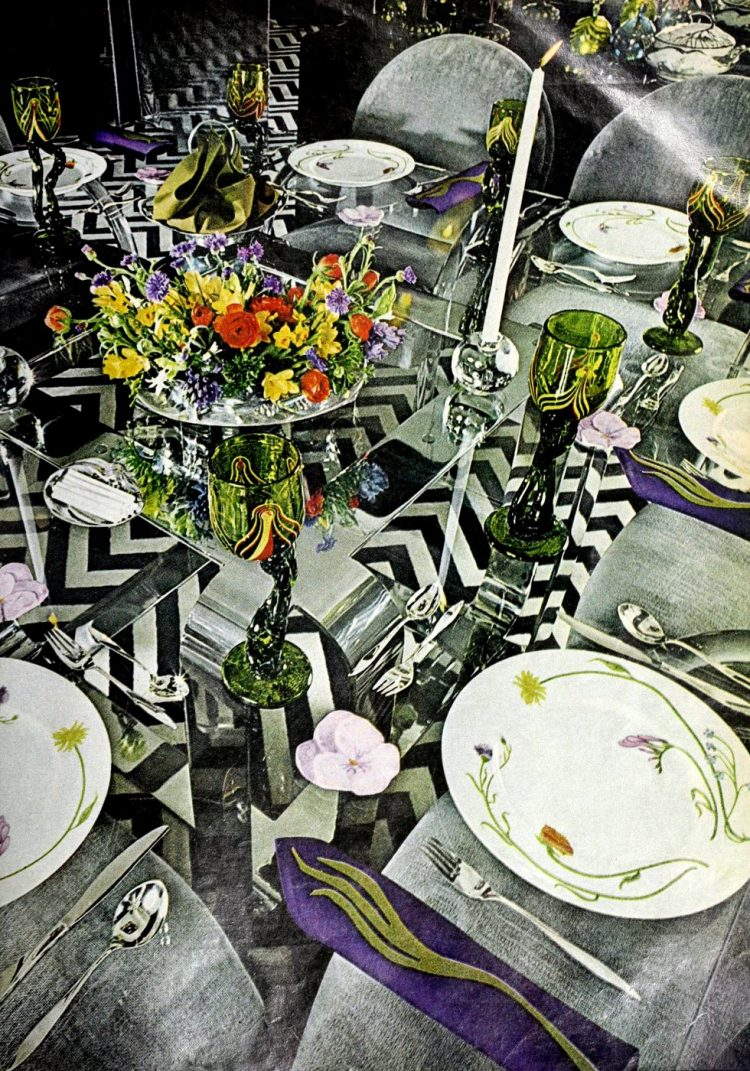 Pretty ways to set the table - Vintage tips from 1976 (10)