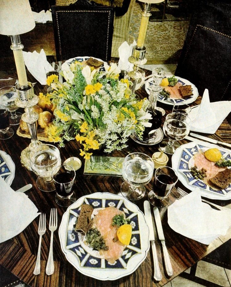 Pretty ways to set the table - Vintage tips from 1976 (5)