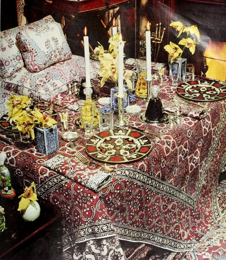 Pretty ways to set the table - Vintage tips from 1976 (8)