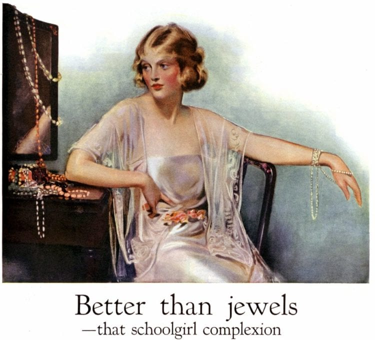 Pretty woman in 1922 wondering about plastic surgery in the 1920s