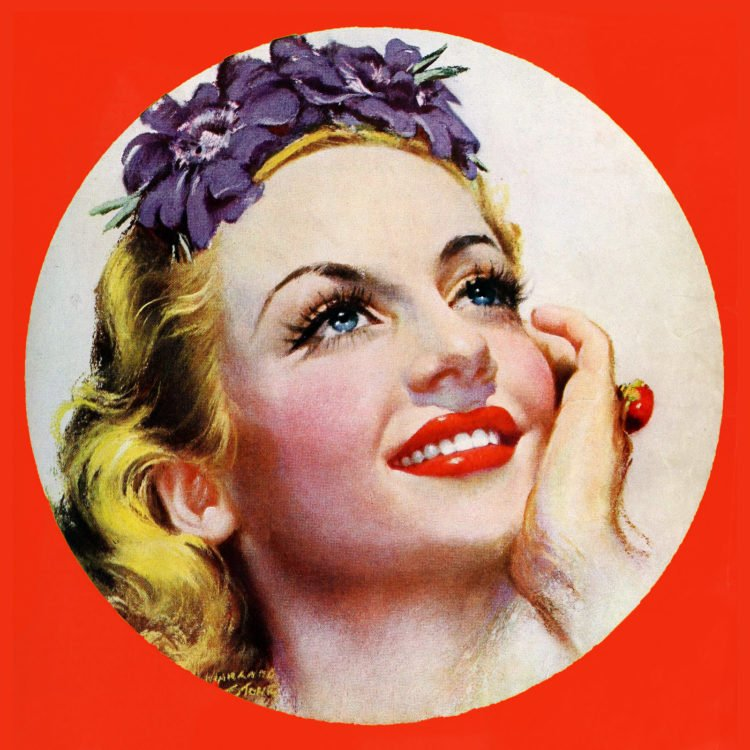 Reinvent yourself - Pretty woman smiling c1939