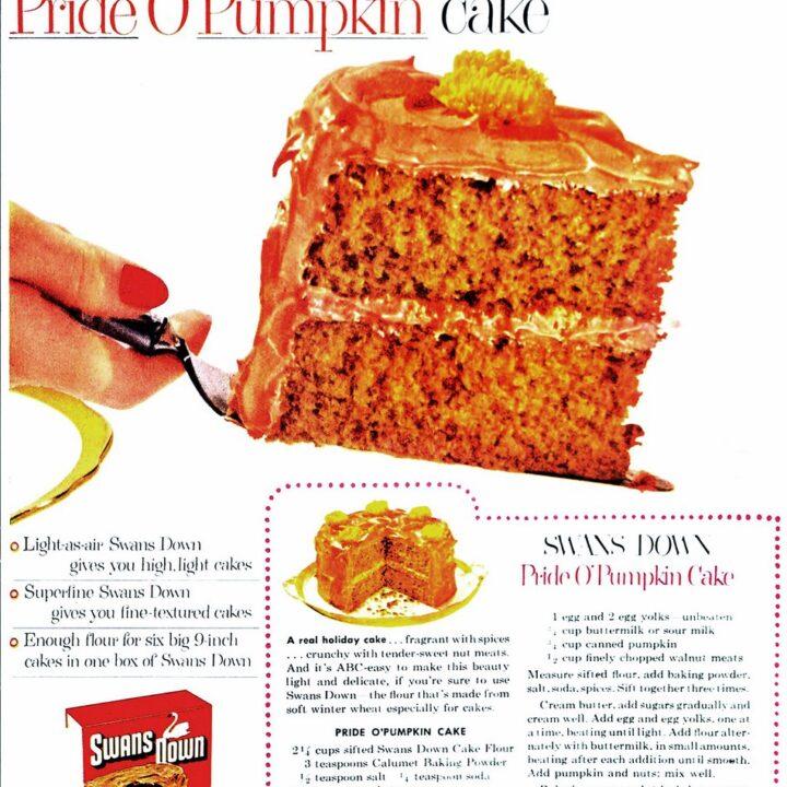 Pride O'Pumpkin cake (1953)