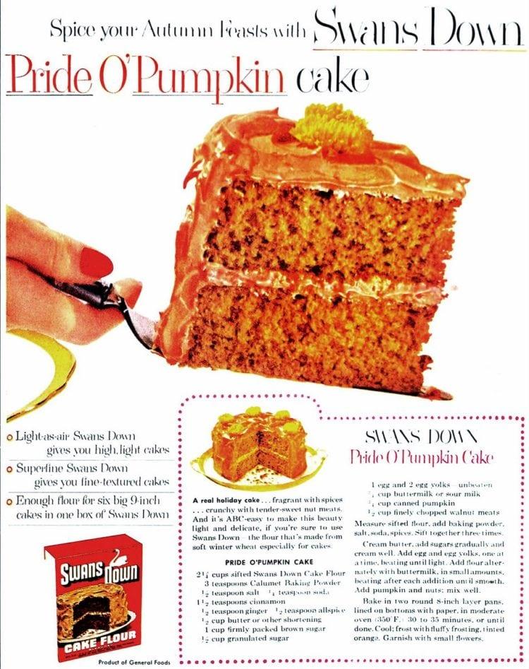 Pride O'Pumpkin cake recipe