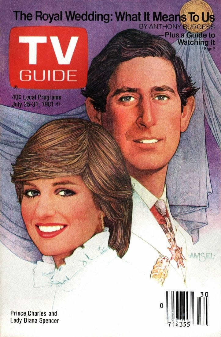 Prince Charles and Lady Diana Spencer wedding - July 1981