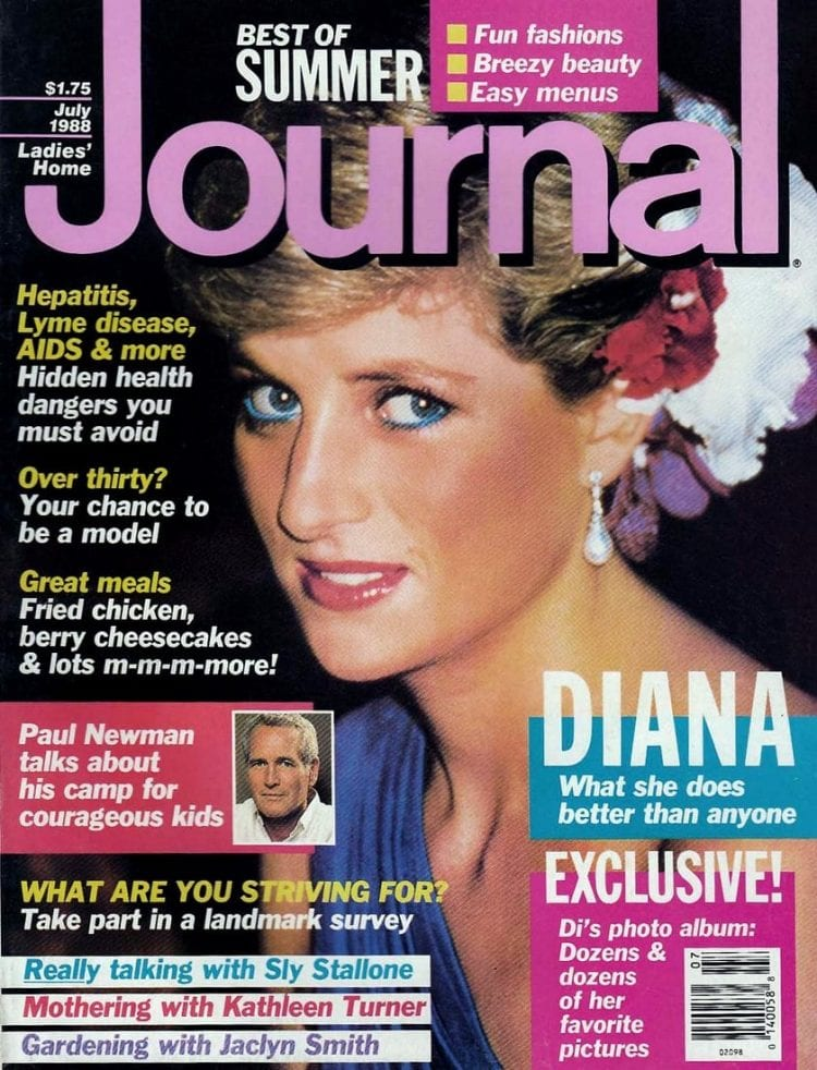 Princess Diana - Ladies Home Journal cover - July 1988