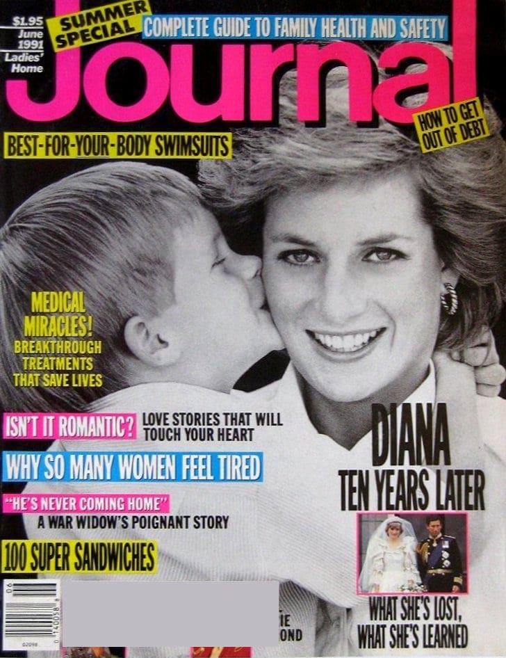 Princess Diana - Ladies Home Journal cover - June 1991