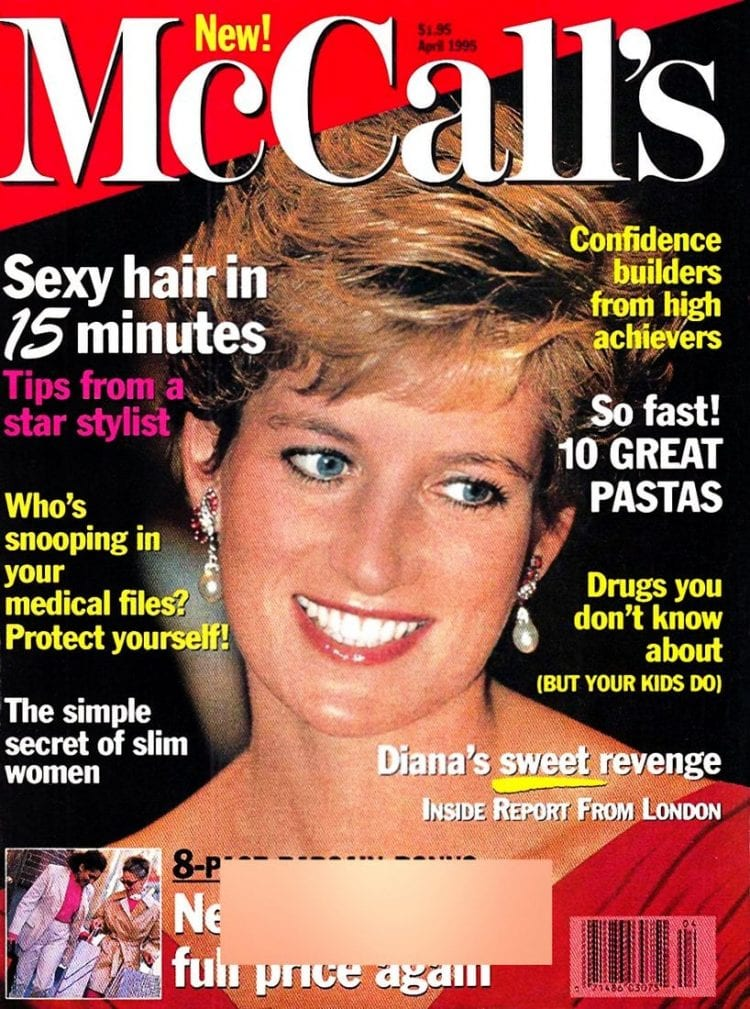 Princess Diana - McCalls magazine cover - April 1995