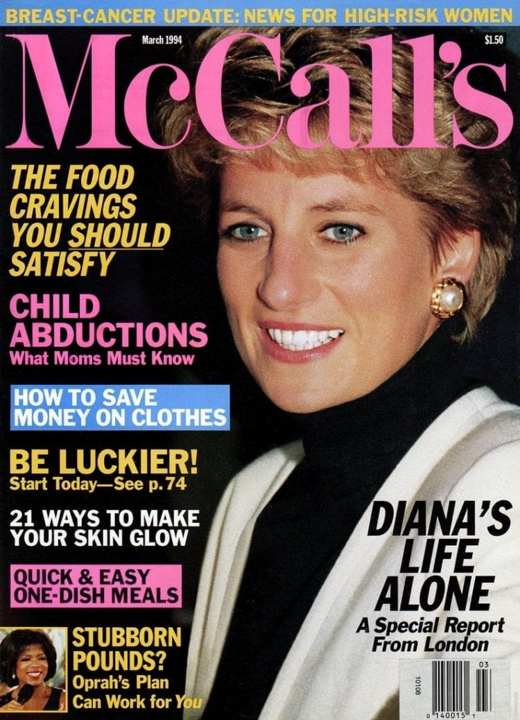 Princess Diana - McCalls magazine cover - March 1994