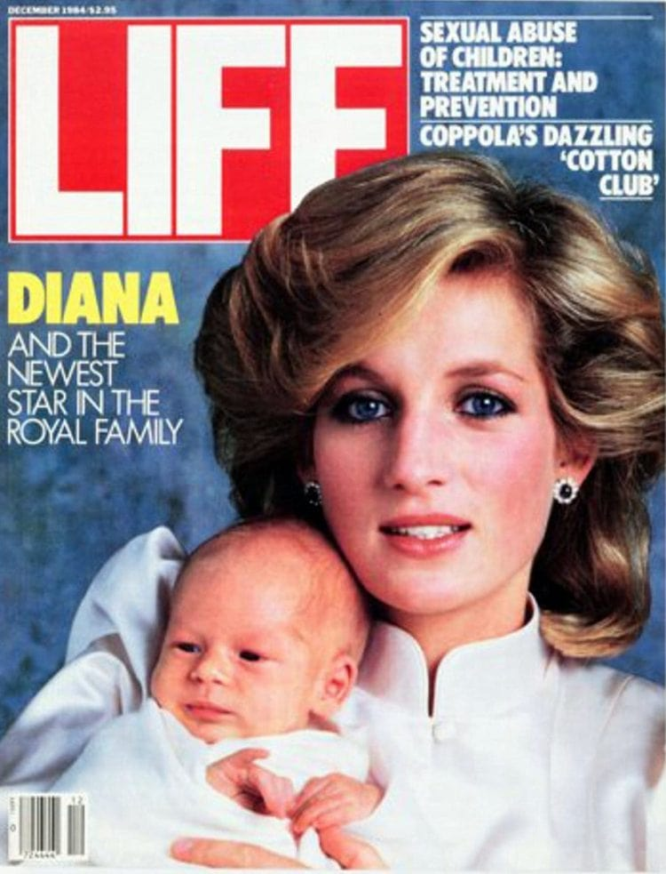 Princess Diana and Prince William on the cover of LIFE 1984