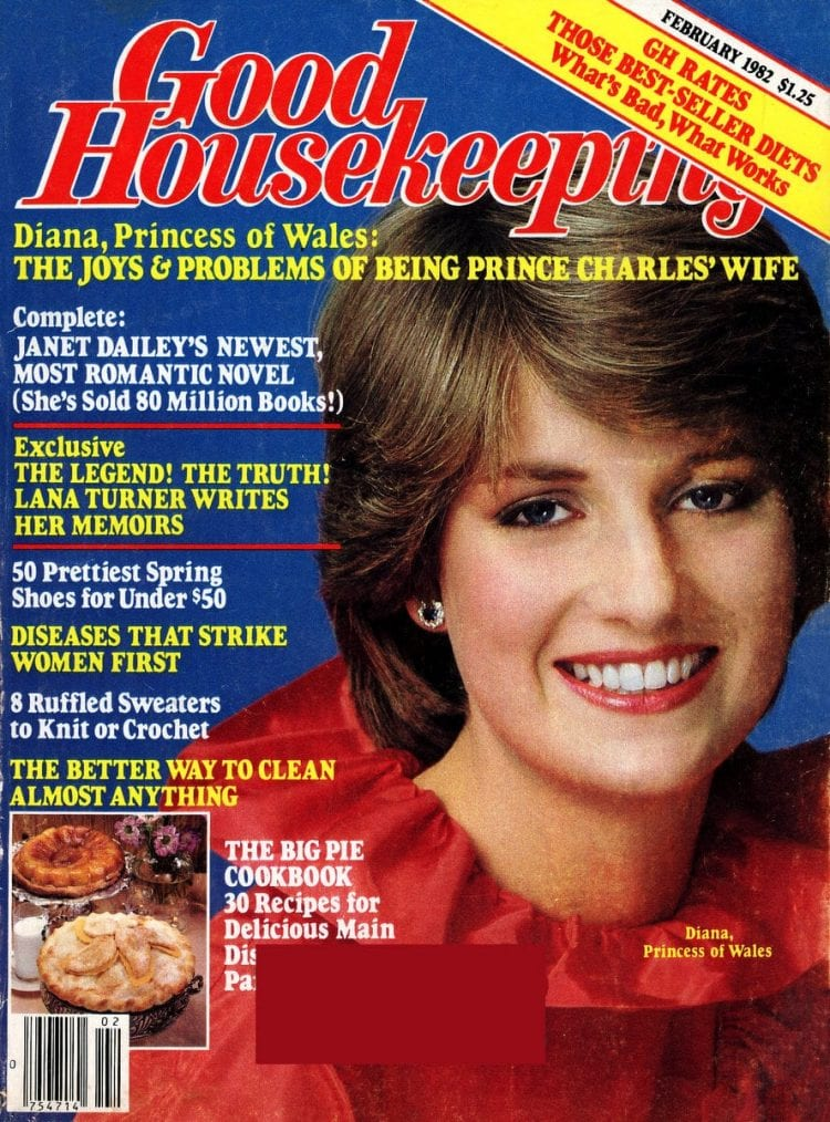 Princess Diana on Good Housekeeping cover (February 1982)