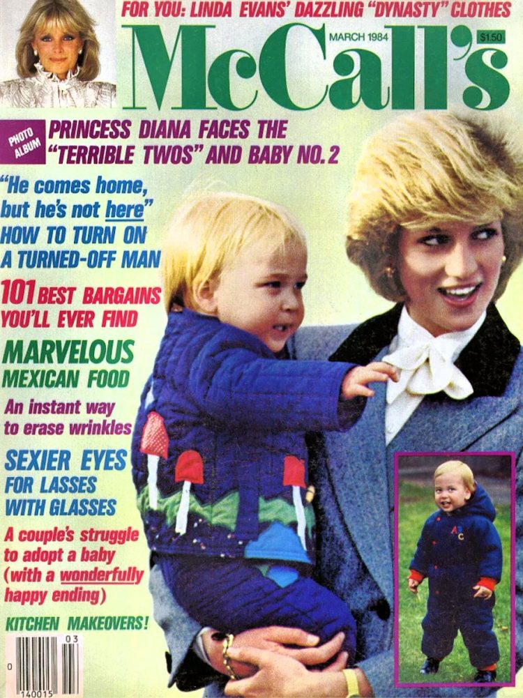 Princess Diana with Prince WIlliam - March 1984