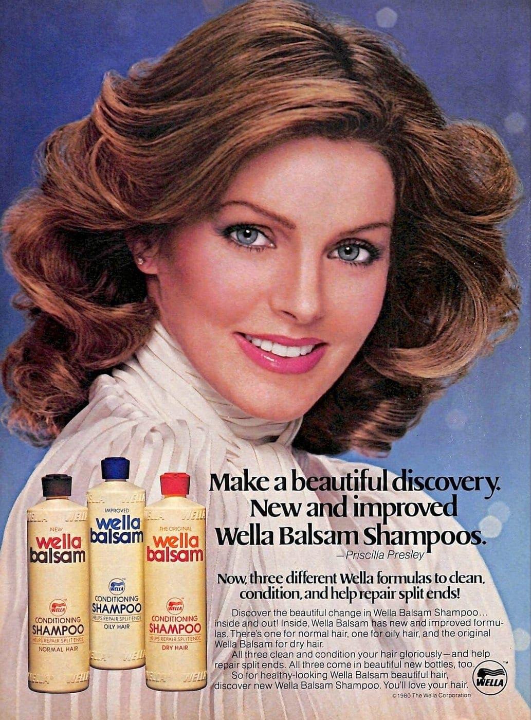 Priscilla Presley for Wella Balsam Shampoos (1980)