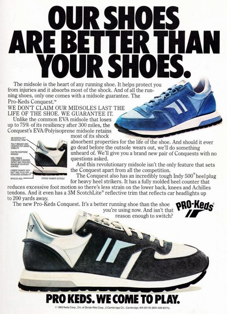 Pro Keds - vintage athletic shoes from 1980s