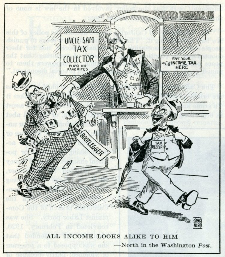 Prohibition bootleggers still have to pay income tax