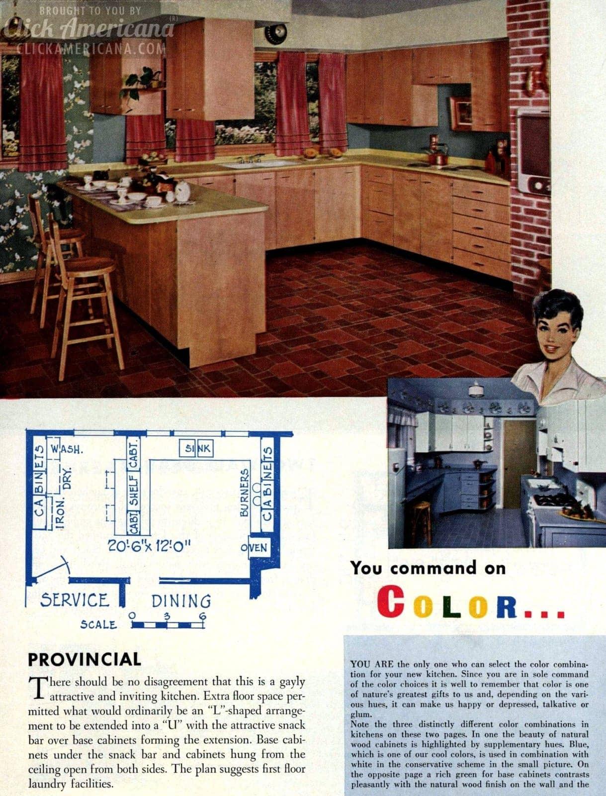 Provincial kitchen remodels in 1955