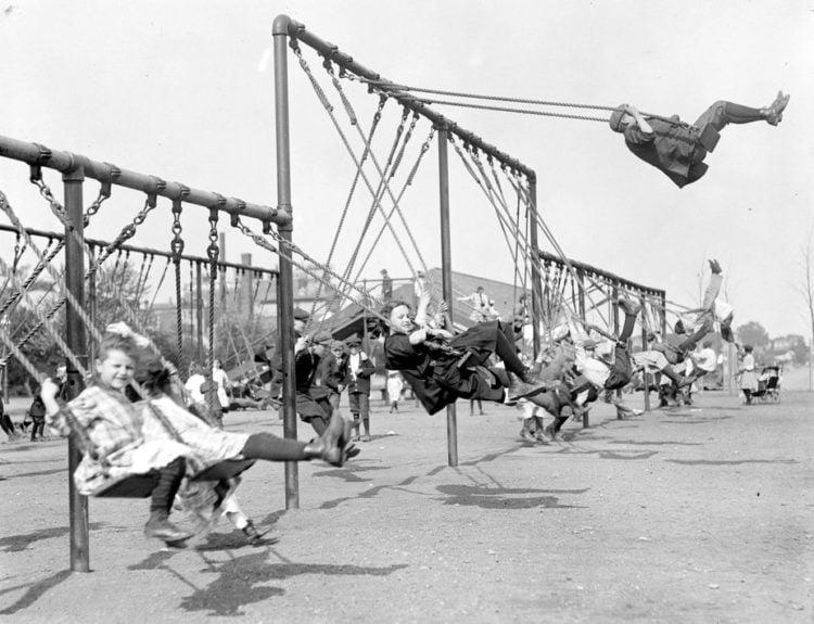 Public playgrounds and around Boston c1910
