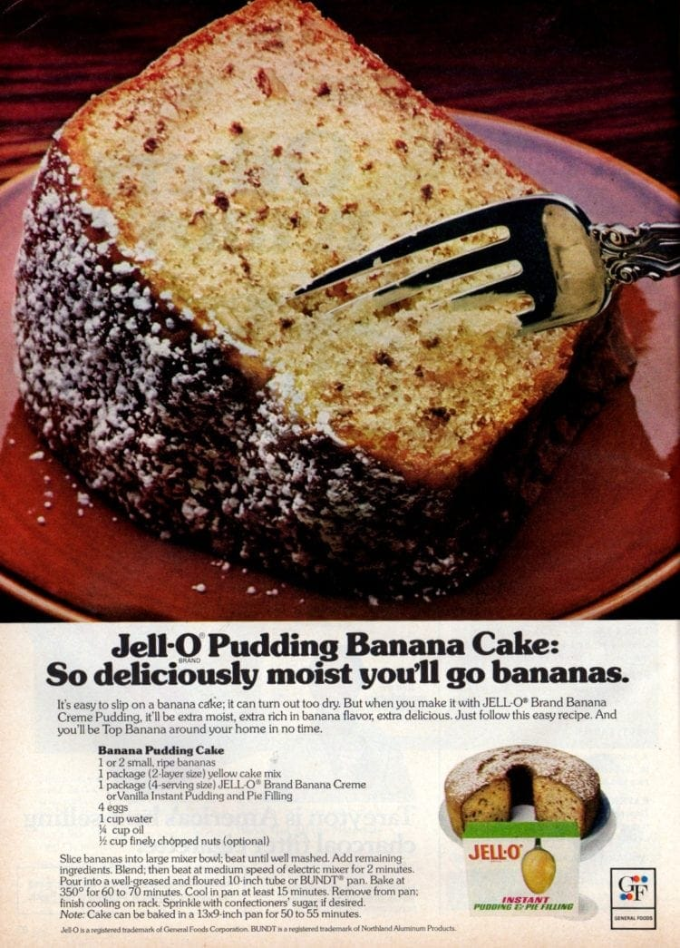 Pudding banana cake recipe