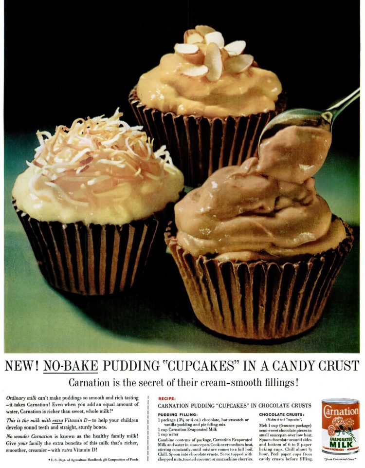 Pudding cupcakes - Vintage dessert recipe from 1962-gigapixel-width-1300px