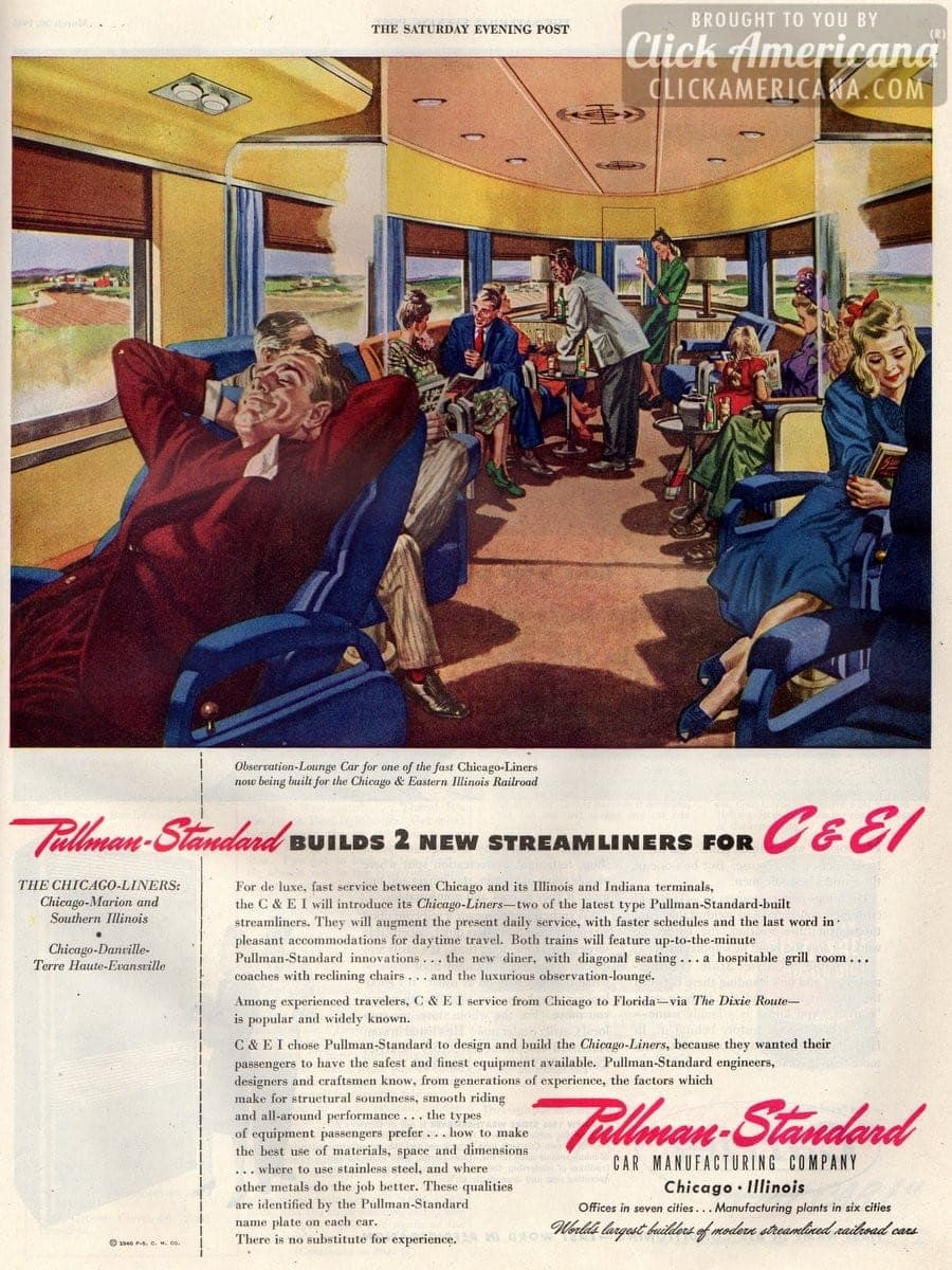 Pullman-Standard builds 2 new Chicago Streamliners 1946