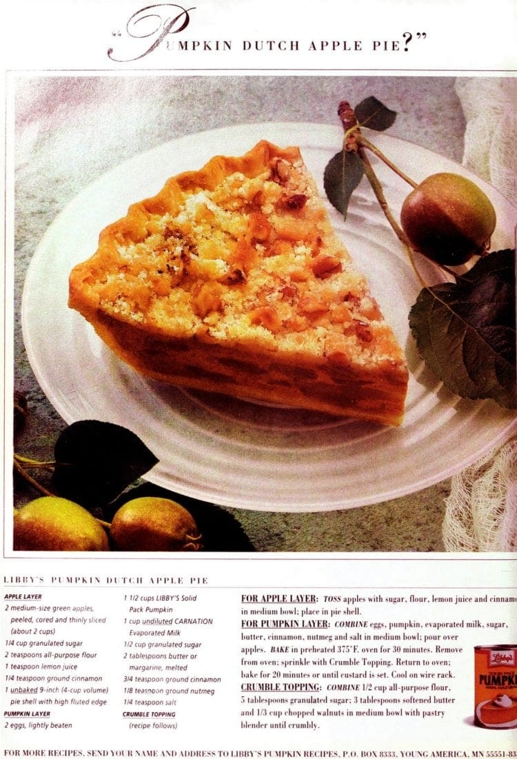 Pumpkin Dutch Apple pie (1994)