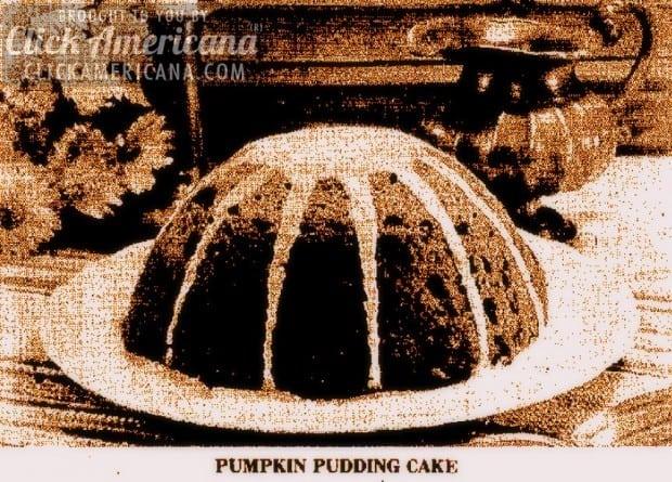 Pumpkin Pudding Cake recipe 1975