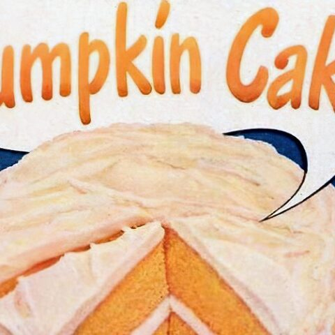Pumpkin cake instead for Thanksgiving (1948)