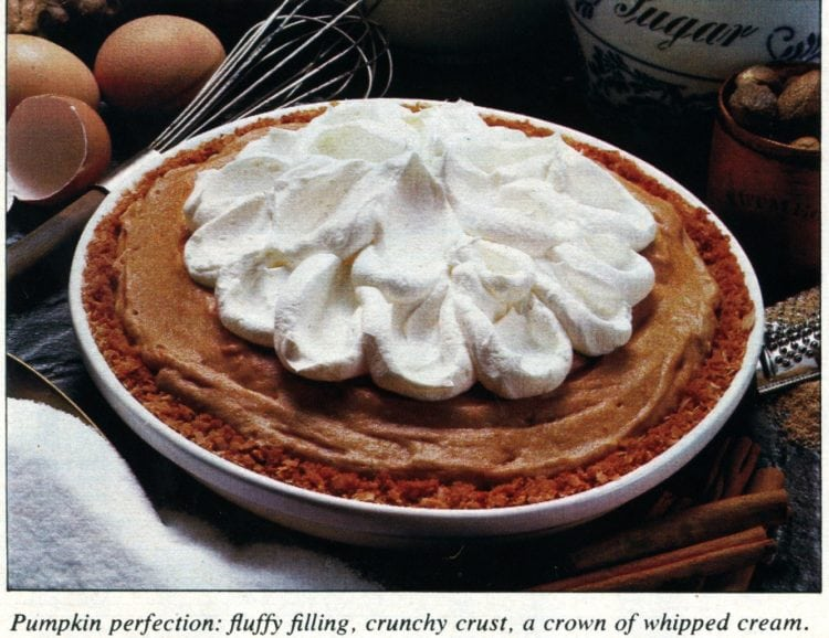 Pumpkin chiffon pie recipe (1979)