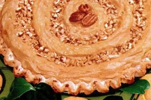 Pumpkin nut pie recipe - Holiday food 1959