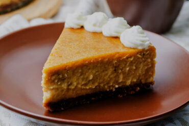 Pumpkin pie in graham cracker crumb crust