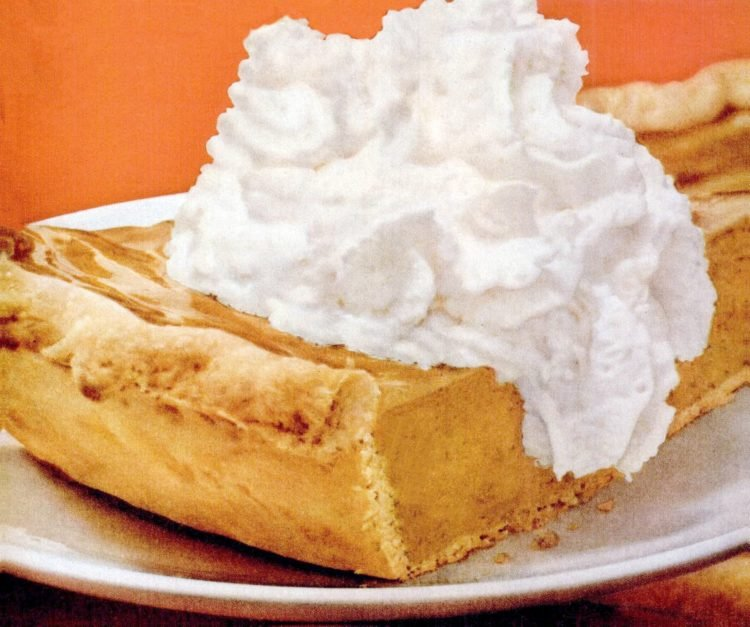 Pumpkin pie whipped cream - 1950s