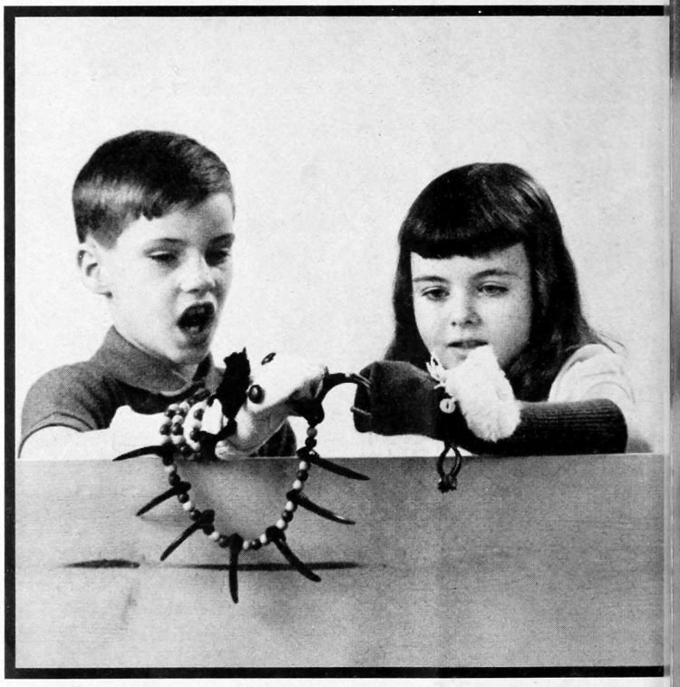 Puppets by moppets - activities for bored kids - ideas from the 1960s