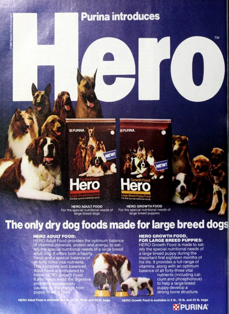 Purina Hero dog food 1980