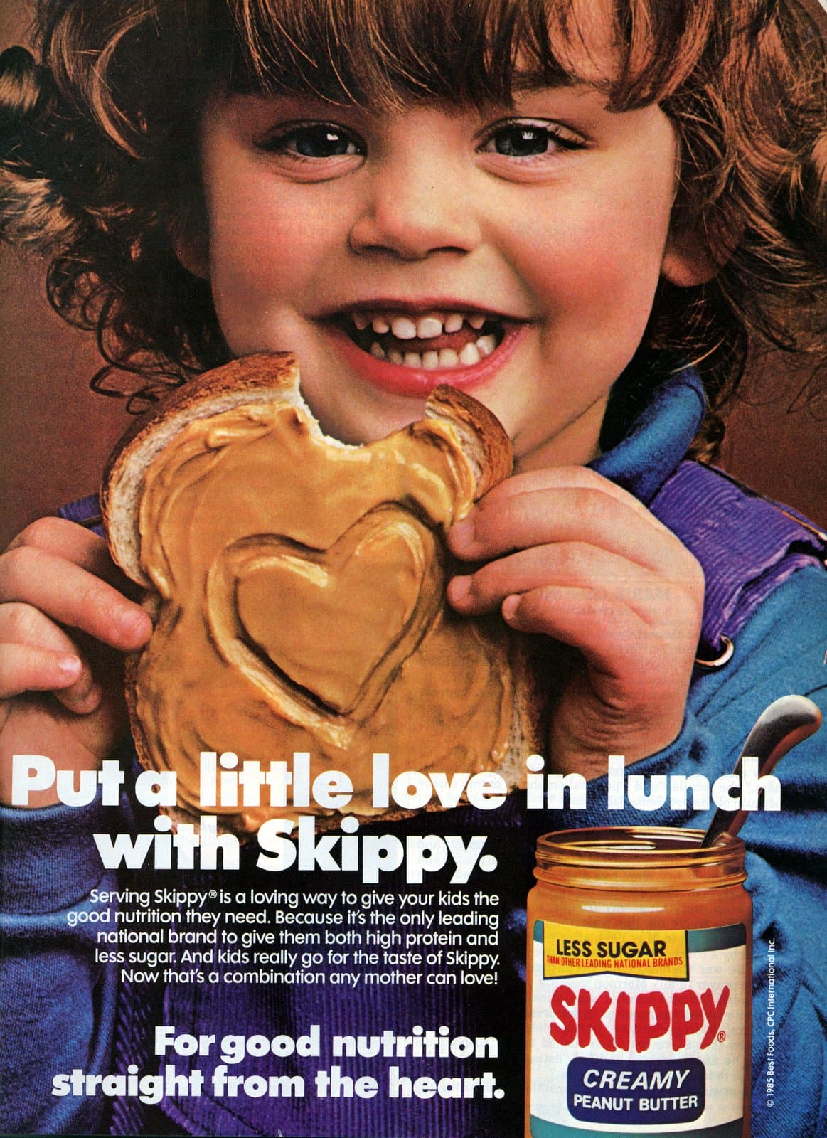 Put love in lunch with Skippy peanut butter (1985)