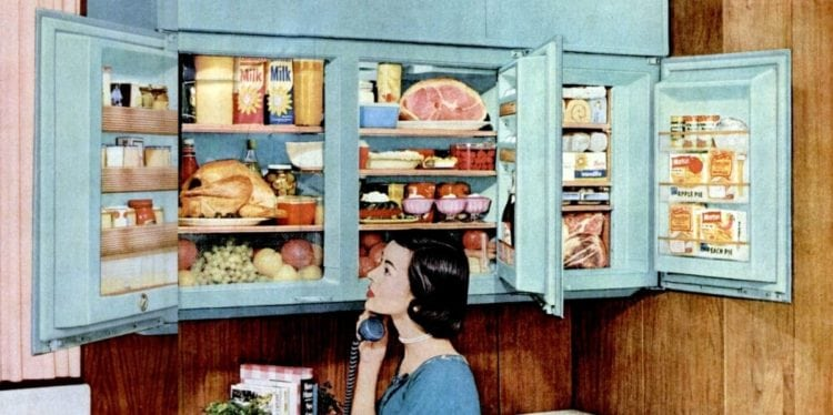 Transform your kitchen with a wall-mounted refrigerator! (1956)