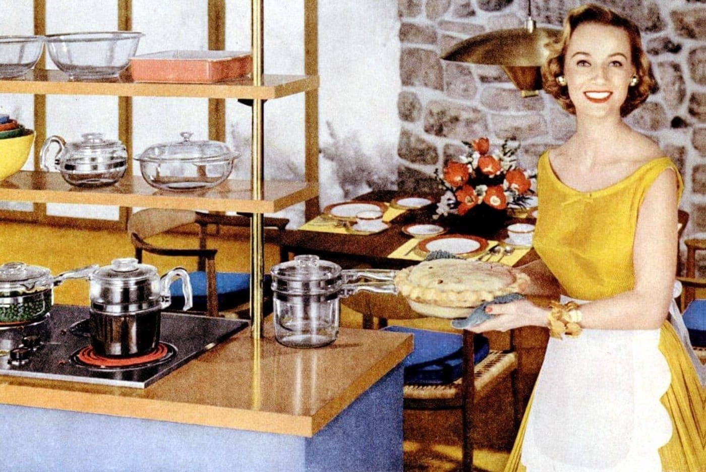 Pyrex - For the modern way to cook - 1955 kitchen