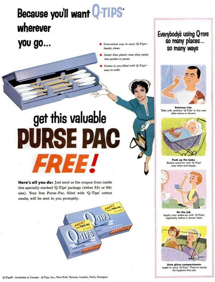 Q-Tips ad - 1950s