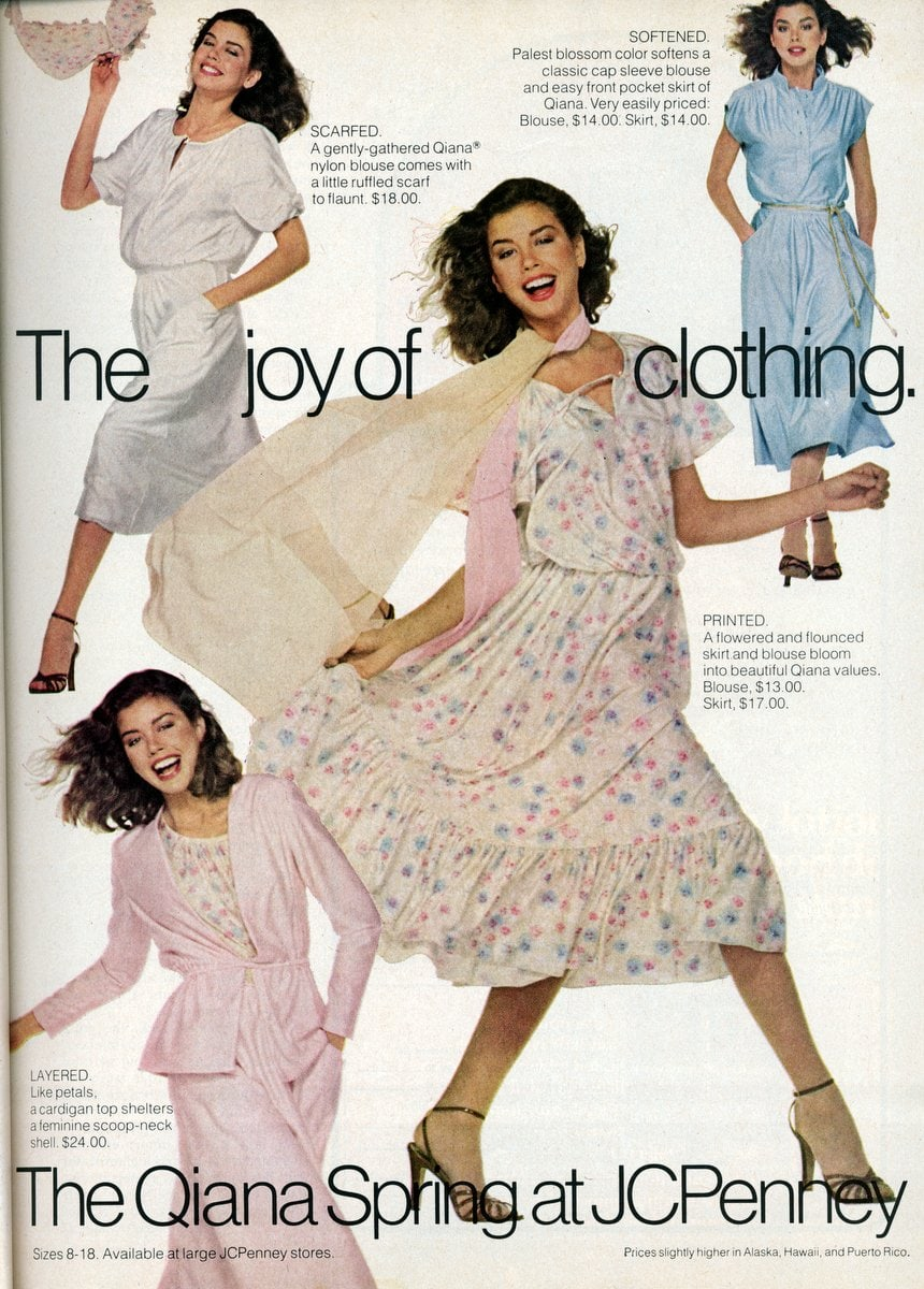 Qiana Spring at JCPenney (1978)