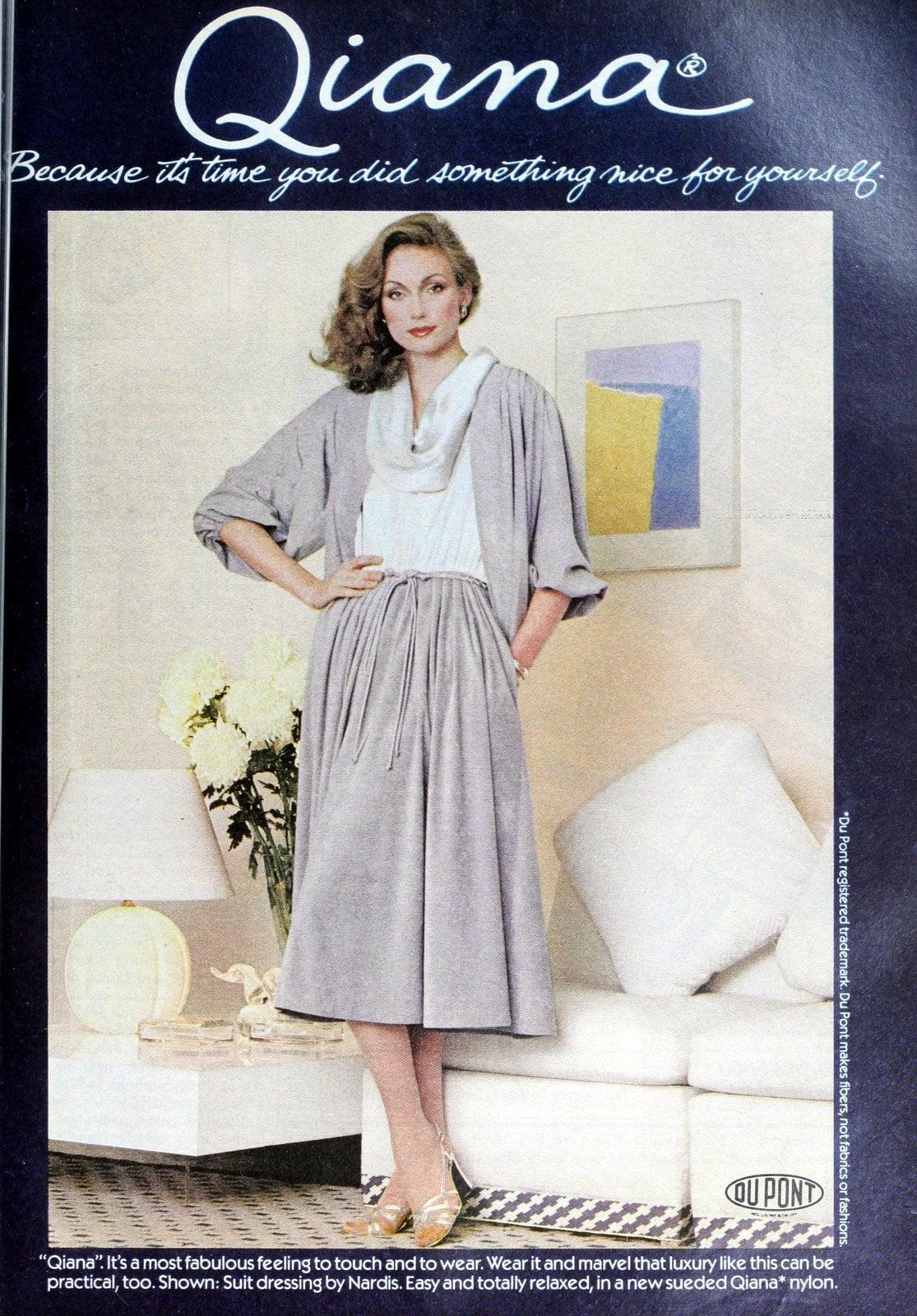 Qiana dress - Nylon clothing from 1978