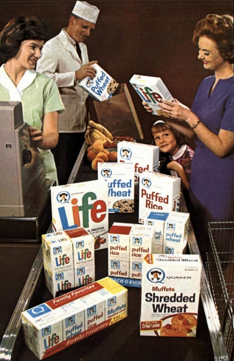 Quaker Cereals at the supermarket - early 1960s (1)