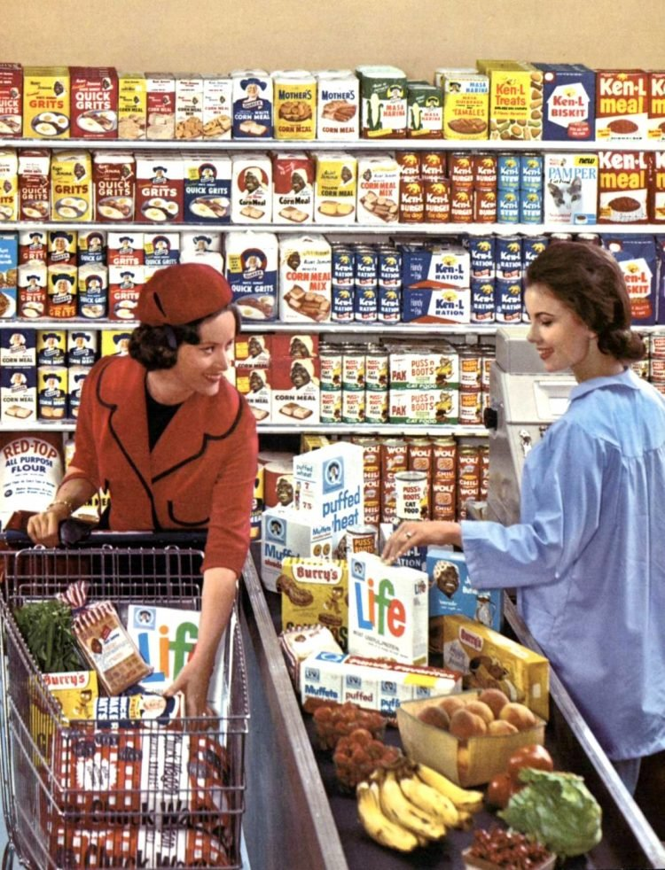 Quaker Cereals at the supermarket - early 1960s (3)