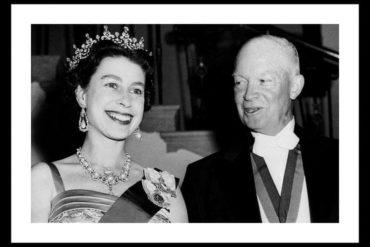 Queen Elizabeth and President Eisenhower 1957