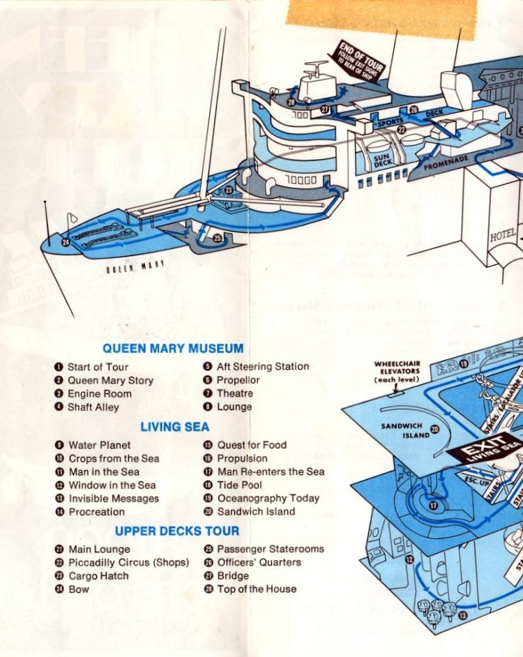 Queen Mary Tour 81,000 tons of fun in Long Beach - Vintage 1970s brochure (2)