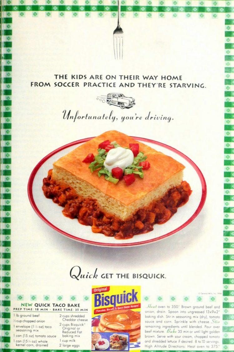 Quick taco bake vintage recipe (1994)