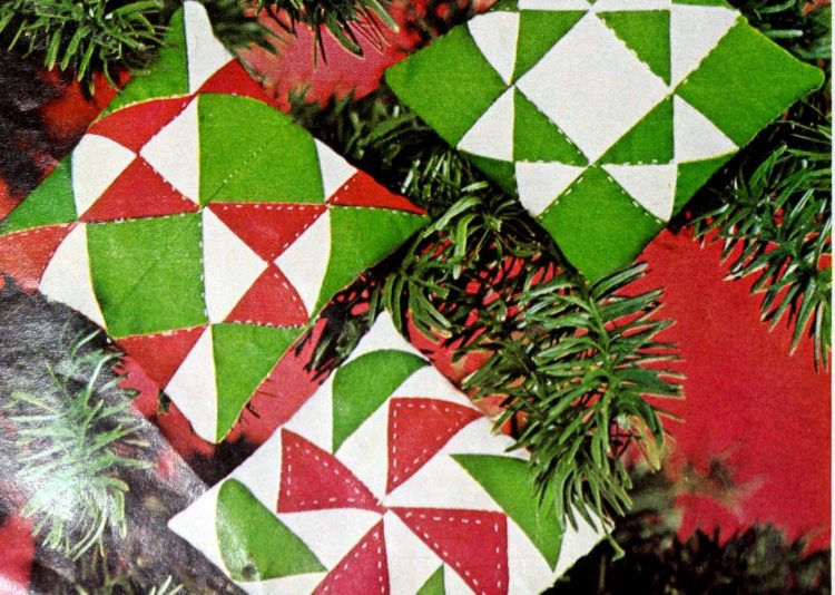 Quilted Christmas ornaments you can sew